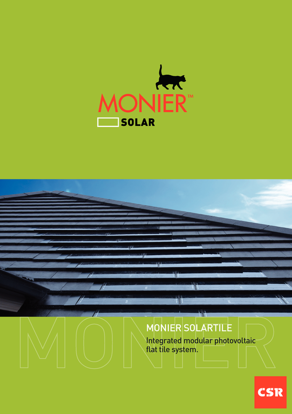 View Brochure: Monier Solartile
