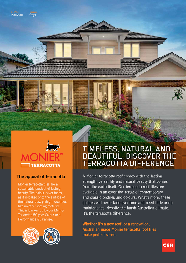 Browse Brochure: Monier Terracotta