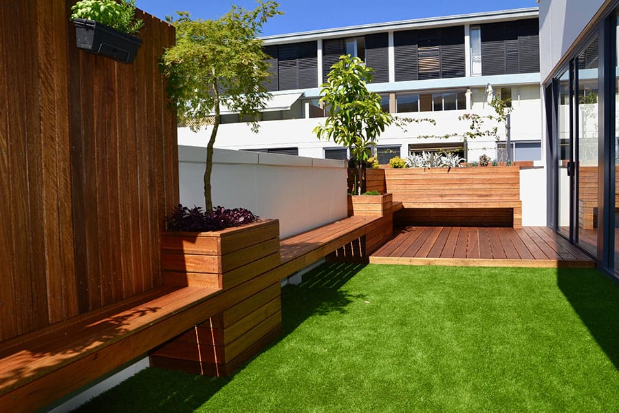 Planter box landscape design in Dee Why