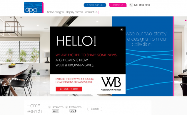 Read Article: APG Homes is now Webb Brown-Neaves