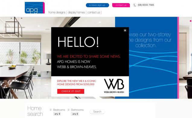 APG Homes is now Webb Brown-Neaves