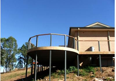 View Photo: Curved Outdoor Deck Design