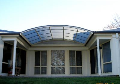 View Photo: Curved Polycarb Roof Design