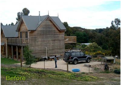 Large Timber Carport – before