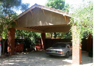 View Photo: Tiled Roof Carport with Brick Pillars