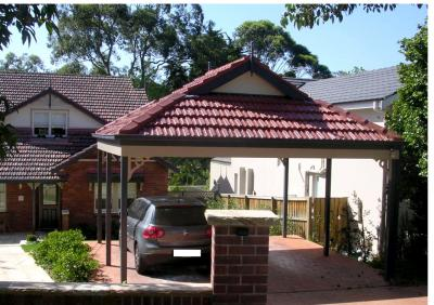 Tiled roof Dutch Gable Carport