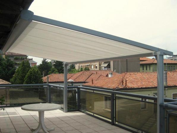 View Photo: Retractable Eureka Awning with posts