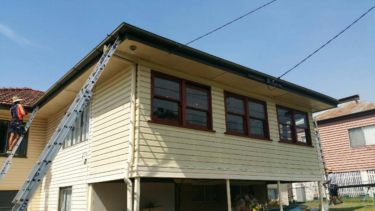 Gutter Replacement & Fascia Repainting