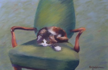Read Article: Emily Holsman's pastel painting 'Missy'