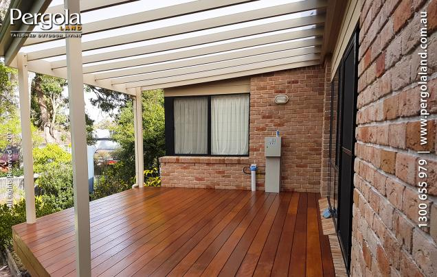 Read Article: Verandah with arcoPlus®IR roofing and Hardwood Decking
