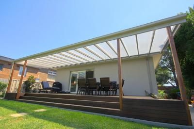 Verandah With Clear Flat Roof Photo Pergola Land Sydney Nsw
