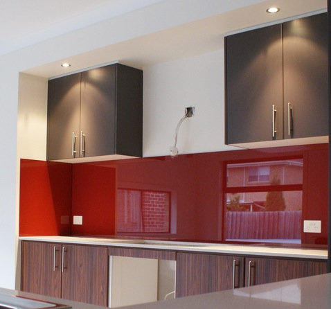 View Photo: Red Glass Splashbacks