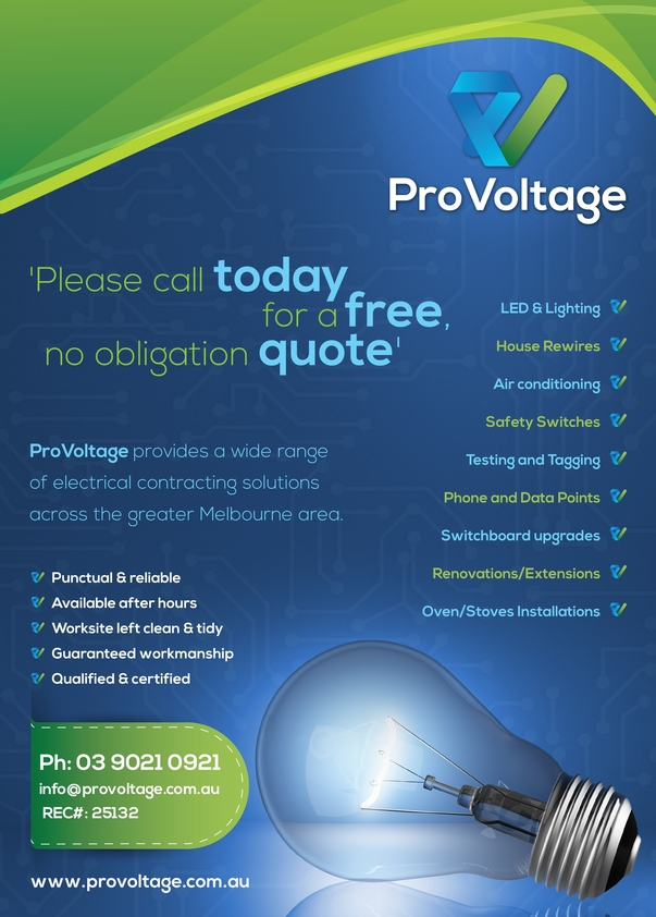 View Brochure: ProVoltage Flyer
