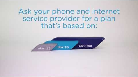 Watch Video: With the nbn network, you have a choice of speed.