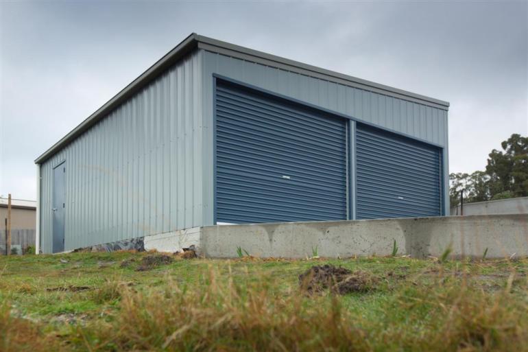 6.0m x 8.0m x 2.5-3.0m skillion shed