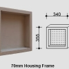 Single Compartment Square Niche for Queensland Homes