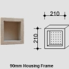 Small Single Compartment Square Niche for NSW & VIC Homes
