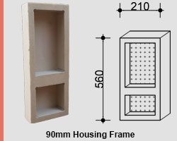 View Photo: Two-Shelf Narrow Vertical Niche for NSW & VIC Homes