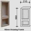 Two-Shelf Narrow Vertical Niche for NSW & VIC Homes