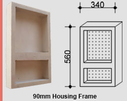 View Photo: Two-Shelf Vertical Niche for NSW & VIC Homes