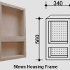 Two-Shelf Vertical Niche for NSW & VIC Homes