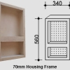 Two-Shelf Vertical Niche for Queensland Homes