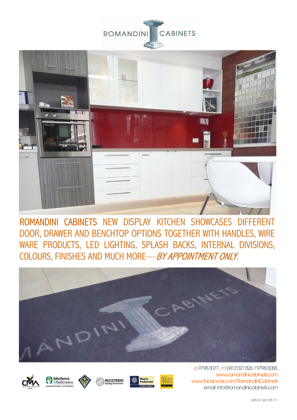 View Brochure: Romandini Cabinets New Kitchen Display