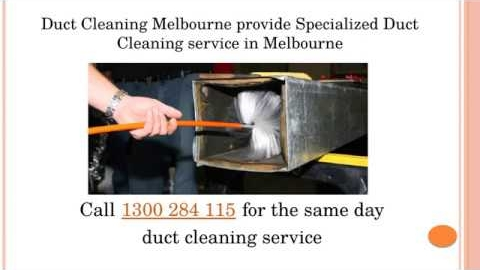Watch Video: Specialised Duct Cleaning Melbourne