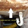 Floor sheeting bathroom Leak