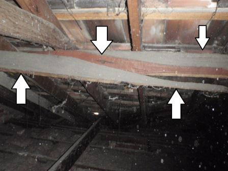 View Photo: Purlin snapped in roof frame