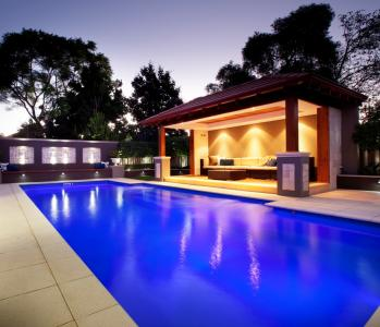 Regal fibreglass swimming pool photo sapphire pools perth wa for Pool design perth
