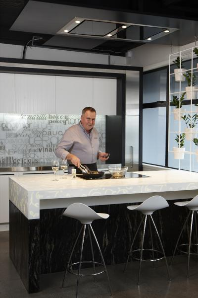 View Photo: NZ Masterchef with the Schweigen Black Glass Ceiling Hood