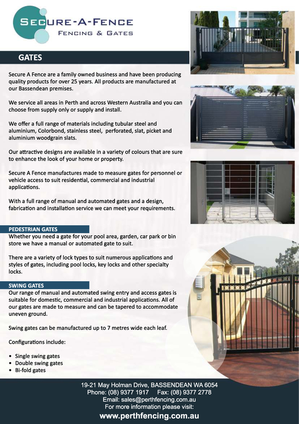 View Brochure: Flyer - Gates