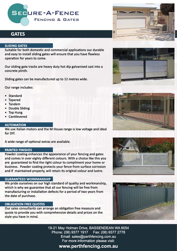 View Brochure: Gates Flyer (Reverse Side)