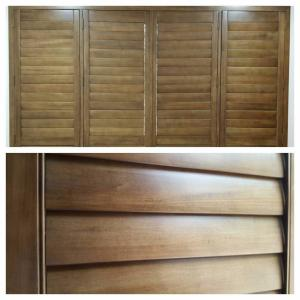 View Photo: Timber Stained Basswood Plantation Shutters