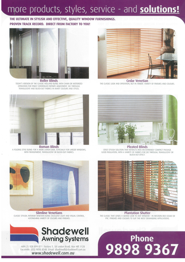 Browse Brochure: The Ultimate in stylish and effective, quality window solutions.