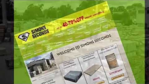 Watch Video: Factory Seconds Landscaping Materials