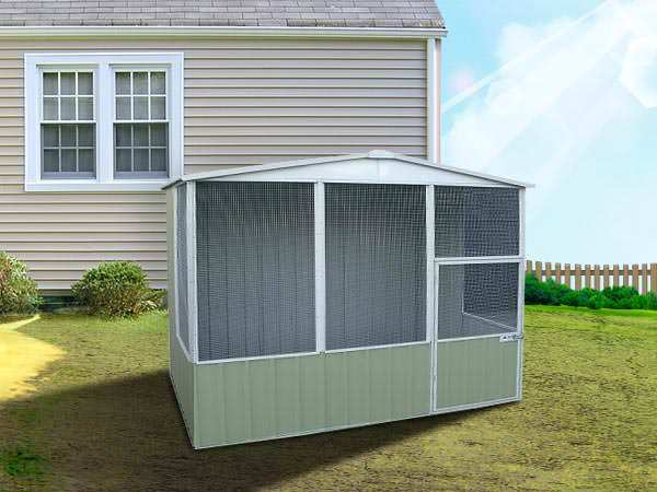 View Photo: ABSCO Aviary Gable Roof 3m x 2.26m - Spacious, Low-Maintenance Pet House