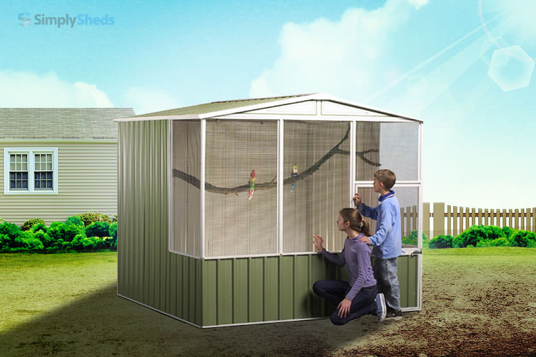 View Photo: ABSCO Aviary Gable Roof - Easy to Assemble and Maintain