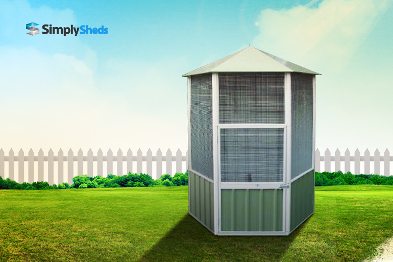 View Photo: ABSCO Aviary Hexagonal - Stylish Shelter for Your Feathered Friends