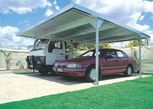 ABSCO Carport 5.5m X 5.5m W50 Zincalume - No Frills, All Steel, Simply Strong