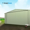 ABSCO Double Garage - With Single Tilt Door