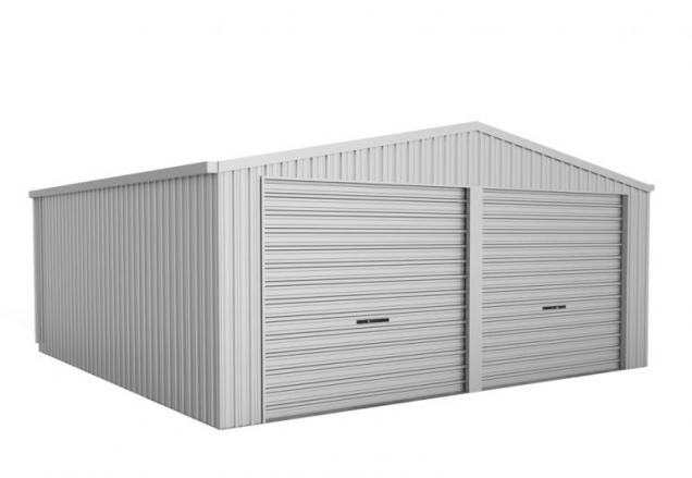 View Photo: ABSCO Double Garage with Twin Roller Door - Perfect for Your Two Vehicles or Handyman Projects