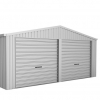 ABSCO Double Garage with Twin Roller Door - Perfect for Your Two Vehicles or Handyman Projects