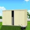 ABSCO Ezislider Garden Shed - Compact, Easy-Access Shed for Small Space