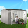 ABSCO Premier Gable Shed in Zinc - No-Frills, Durable and Versatile