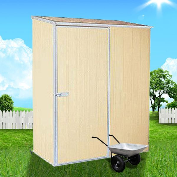 View Photo: ABSCO Spacesaver Garden Shed 1.52m x 0.78m - The Ultimate Storage for Your Limited Space