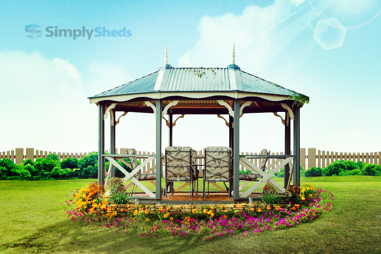 View Photo: Cedar Shed Brighton Gazebo - Pretty and Practical