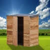 Cedar Shed Terrace Interlock - The Easy-Install Lean-To Shed