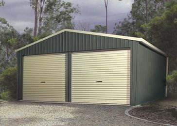 Spanbilt Smartbild Double Garage - With Two Single Roller Doors